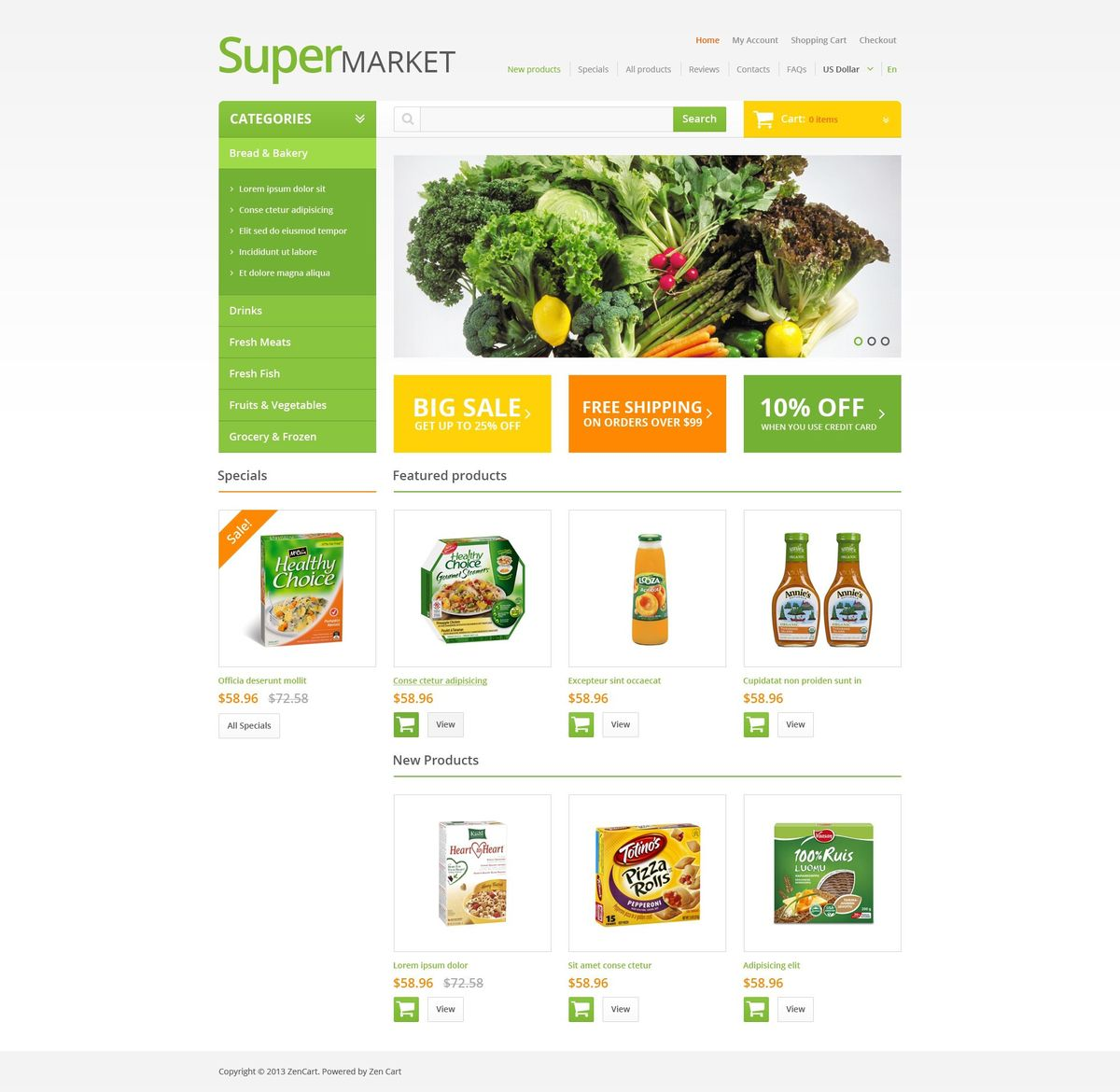 Grocery Store Templates | TemplateMonster