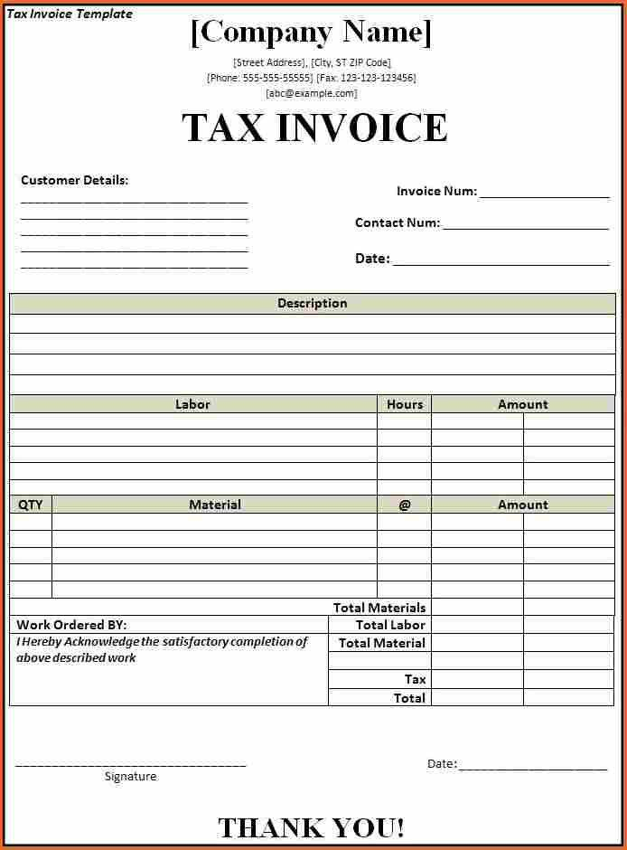 6+ word document invoice template free - Budget Template Letter