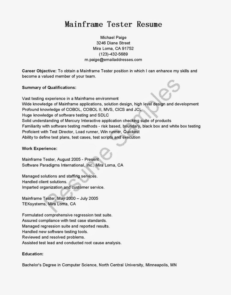 performance testing resume samples sample performance tester ...