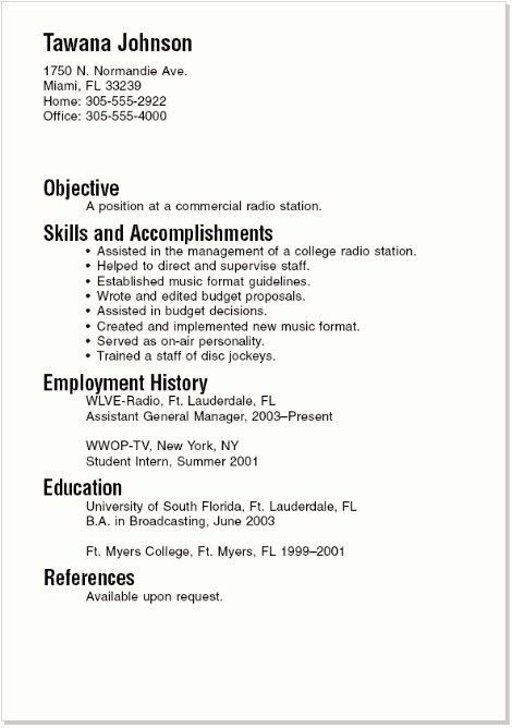 Resume Template For College Students | haadyaooverbayresort.com