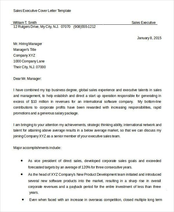 Cover Letter - 13+ Free Sample. Example, Format | Free & Premium ...