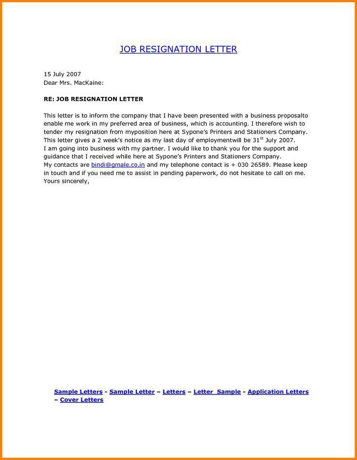The 25+ best Resignation letter format ideas on Pinterest   Sample ...