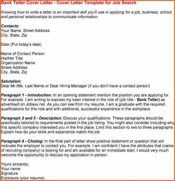 10+ bank teller cover letter - Budget Template Letter