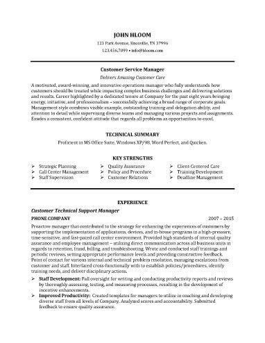 Examples of customer service objectives for a resume
