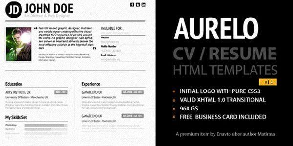 40+ Premium and Free Resume Templates | Web Design Burn