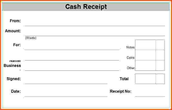 8+ printable cash receipt | Survey Template Words