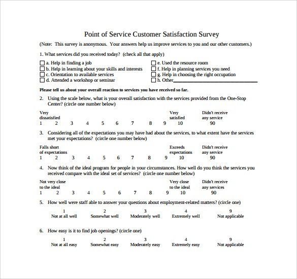 Satisfaction Survey. Customer Satisfaction Surveys - Service Desk ...