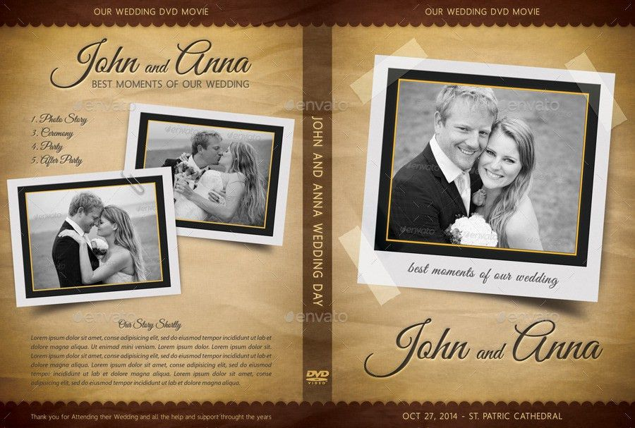 Retro Wedding DVD Cover Template 03 by rapidgraf | GraphicRiver