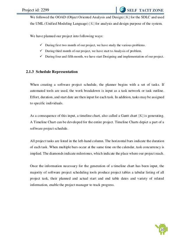 Final Year Project Report on Self Tacit Zone (Location Based Android …