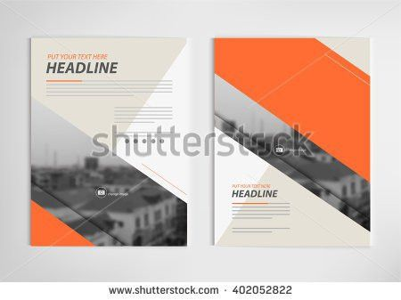 Vector Annual Report Cover Brochure Design Stock Vector 489514855 ...