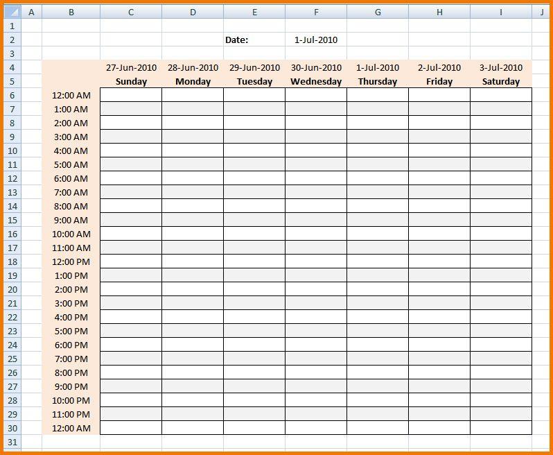 4 hourly calendar   Expense Report
