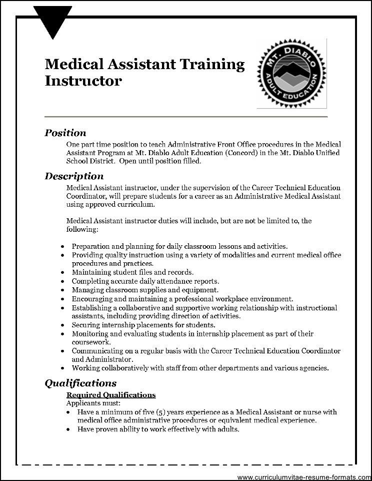 Front Office Medical Assistant Resume Sample - Free Samples ...