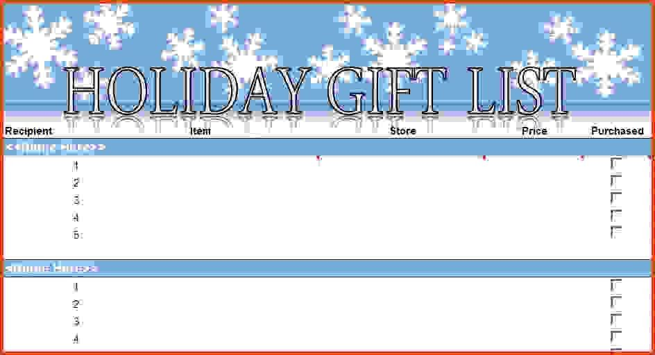 Christmas List Template. Christmas List Maker Free Christmas List .  Christmas List Maker Free