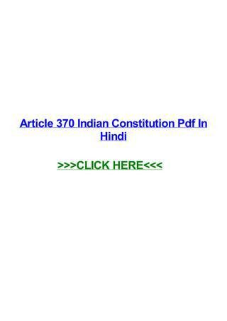 Article 370 indian constitution pdf in hindi by Shirley James - issuu