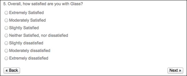 Latest Google Survey Asks About Public Reactions to Glass