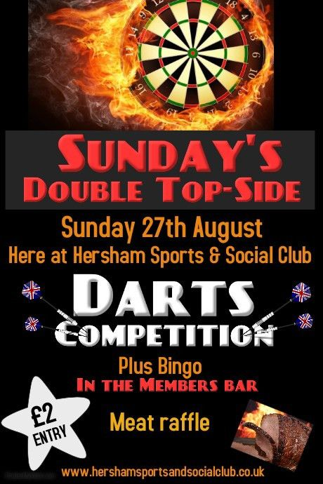 Darts Competition Poster template | PosterMyWall