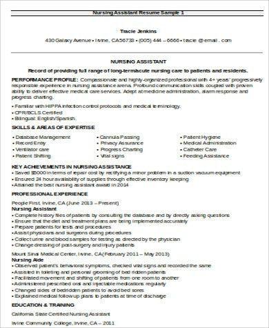 Nursing Resume Objective Sample - 8+ Examples in Word, PDF
