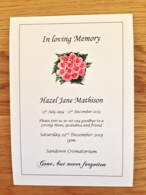 funeral invitations - thebridgesummit.co