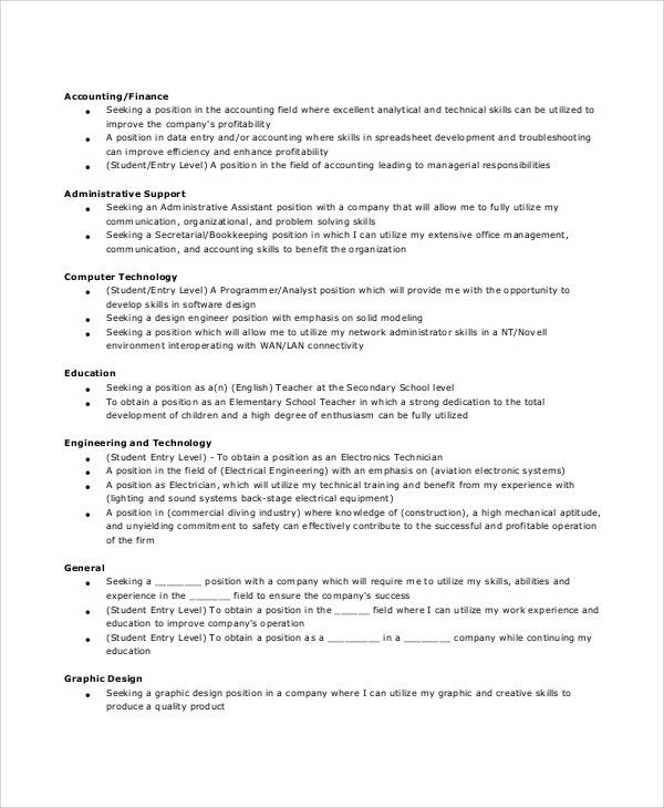 Sample General Resume Objective - 5+ Documents In PDF