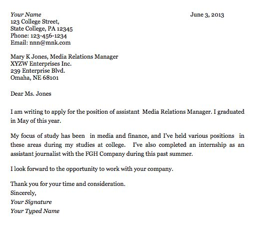 college grad cover letter sample college grad cover letter sample ...