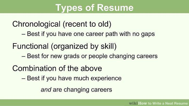 How to Write a Neat Resume: 13 Steps (with Pictures) - wikiHow