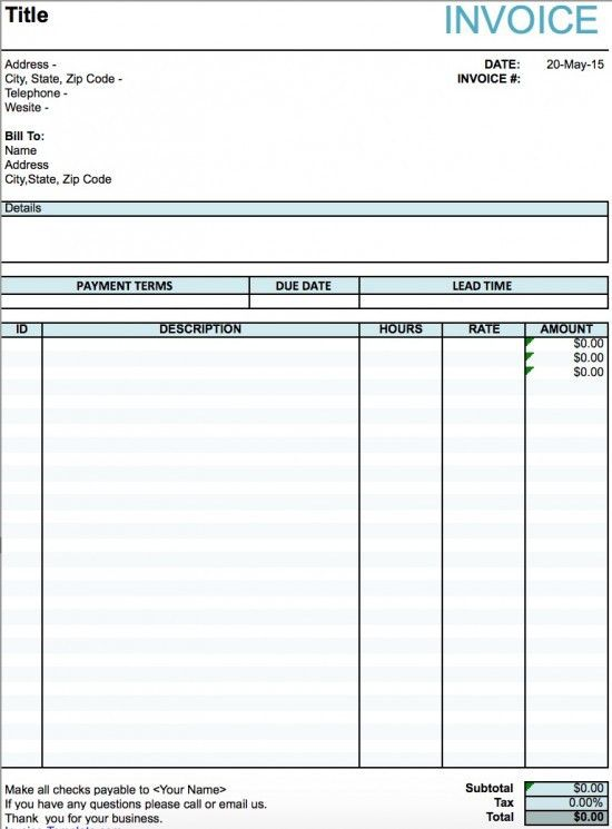 Free Artist Invoice Template | Excel | PDF | Word (.doc)