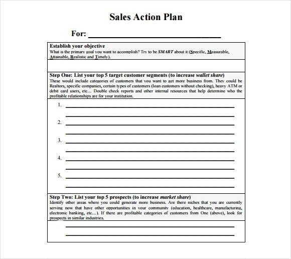 Free Sales Plan Templates - Free Printables Word Excel
