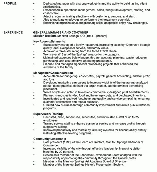 Charming Design Restaurant Manager Resume 3 Manager Resume Example ...