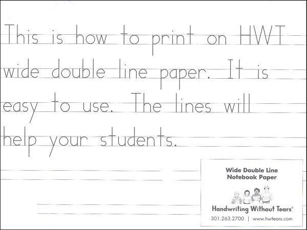 Rainbow Resource, HWT, Wide Double Line Notebook Paper - 100 ...