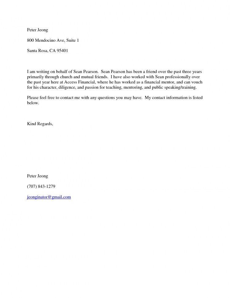 Recommendation Letter Format For Friend - Mediafoxstudio.com