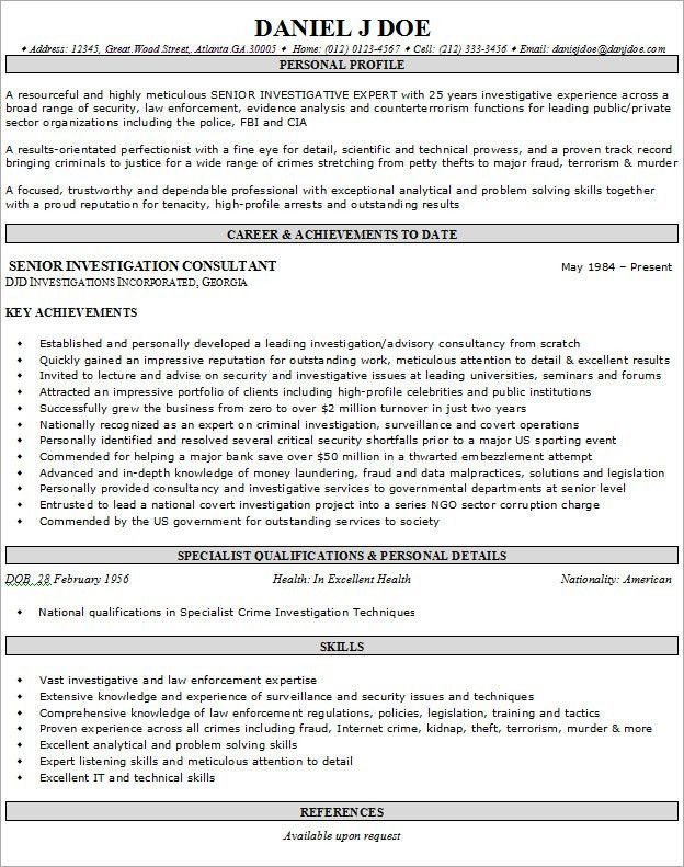 Resume Examples Example Of Resume By Easyjob The Best Free Example ...