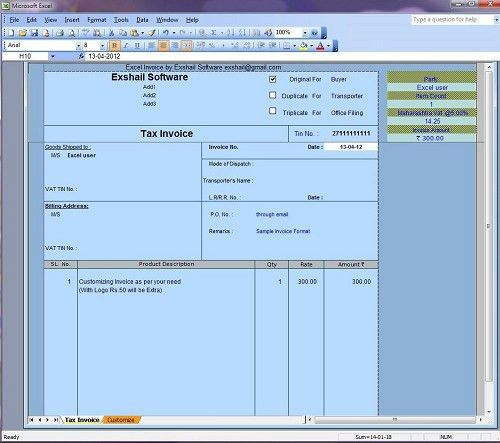 Download Tax Invoice Format Excel Sheet Free Download | rabitah.net