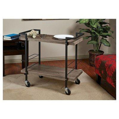 OSP Designs Maxwell Serving Cart Ash Veneer Finish - Office Star ...