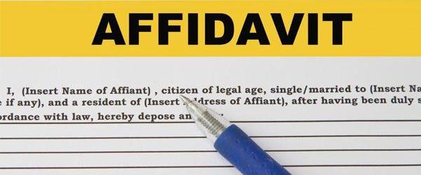 Sample affidavit format for work experience