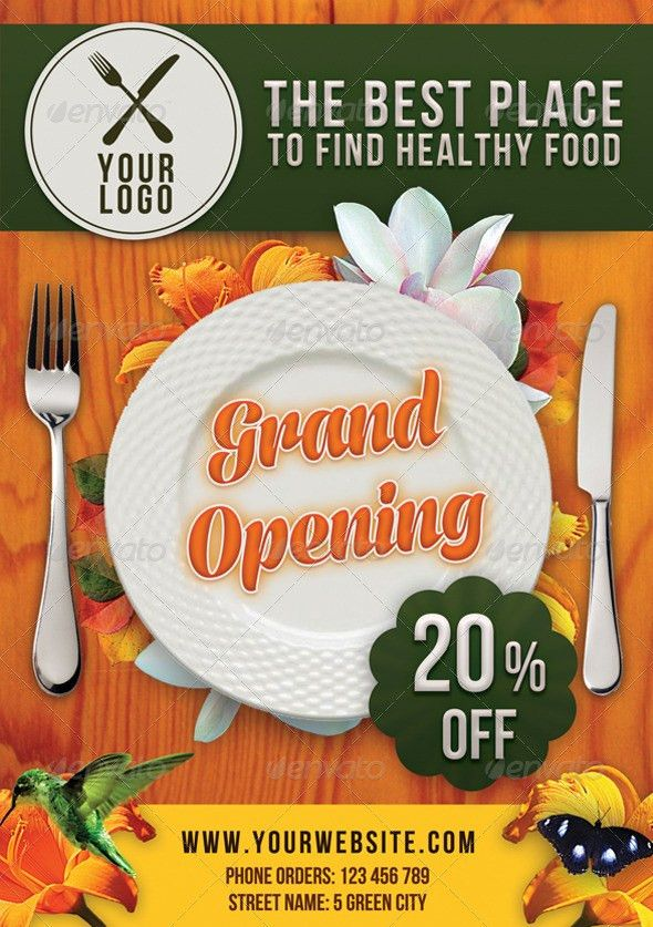 Restaurant Flyer | Fonts-logos-icons | Pinterest | Flyer template ...