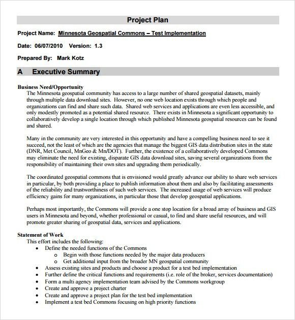 Project Outline Template - 10+ Free Word, Excel, PDF Format ...