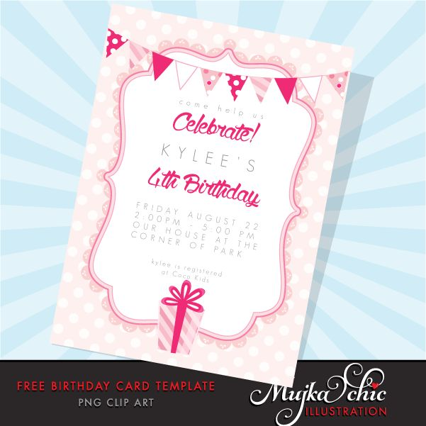 Free Printable Birthday Card Template | Mujka Clipart, Printable ...