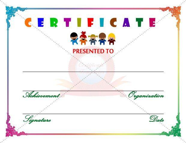 Kids Certificate Template | KIDS CERTIFICATE TEMPLATES | Pinterest ...