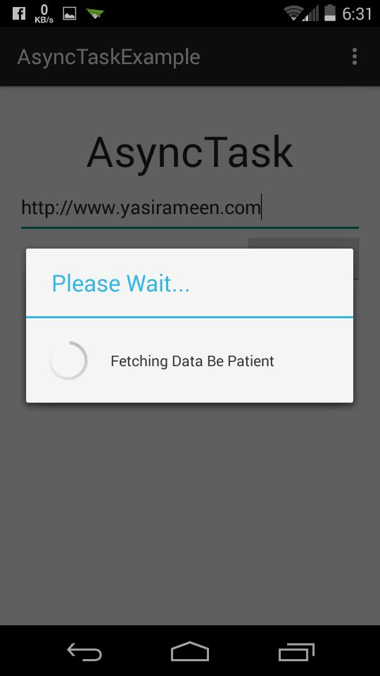 AsyncTask With Progress Dialog