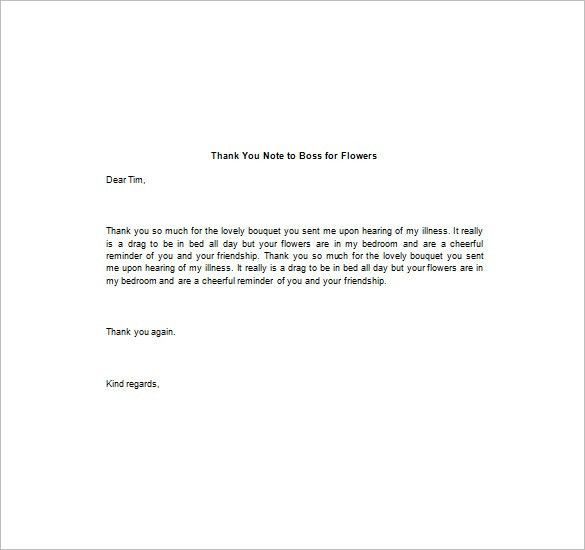10+ Thank You Notes To Boss – Free Sample, Example, Format ...