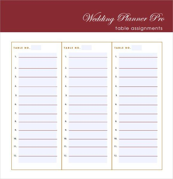 6 Free Wedding Guest List Templates - Excel PDF Formats