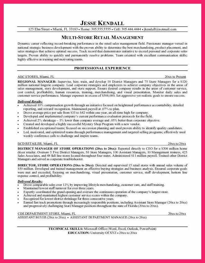 resume objective for retail | bio letter format