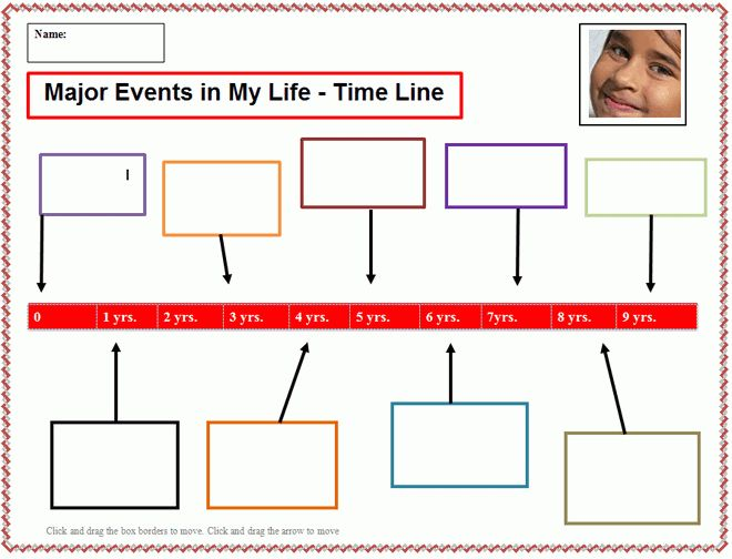 My Life - Time Line Template | K-5 Computer Lab Technology Lesson ...