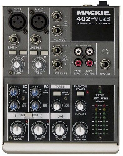 Midwest Pro Sound and Lighting - Mackie 402-VLZ3 Compact Mixer ...