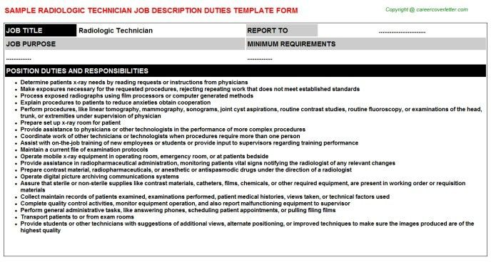 Radiology Technician Career Scope Job Description Salary With ...