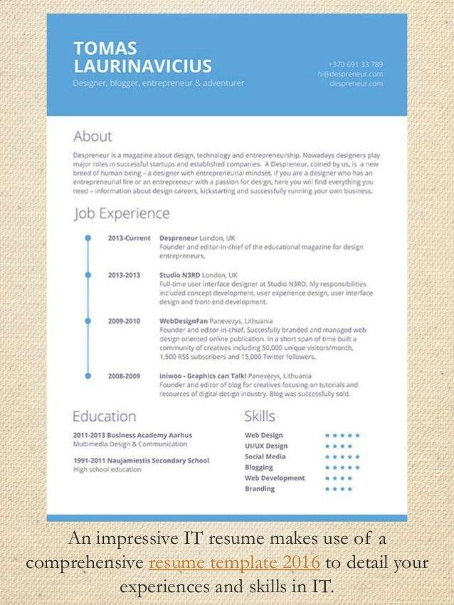impressive resume sample