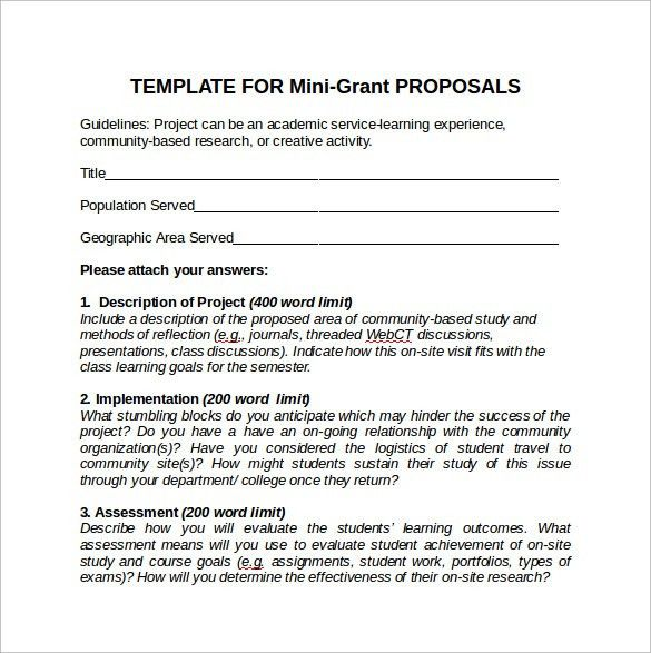 Sample Grant Proposal   8+ Documents In PDF, Word