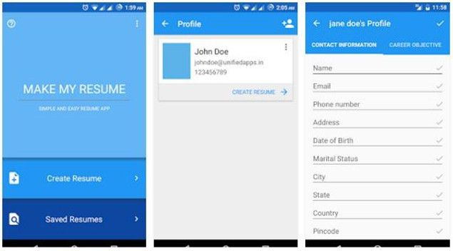 Comparison: 5 resume builder apps for Android | Gadgets Now
