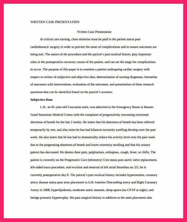 Case Study Template Example. case study medical format. best 25 ...