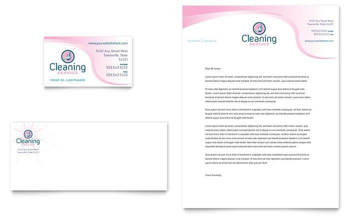 House Cleaning & Maid Services Business Card & Letterhead Template ...